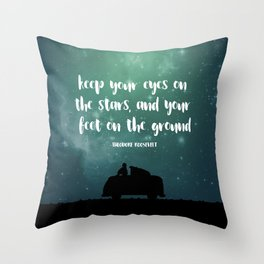 Keep Your Eyes on the Stars Throw Pillow