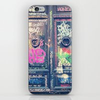 doors iPhone & iPod Skins featuring doors by dillon hesse