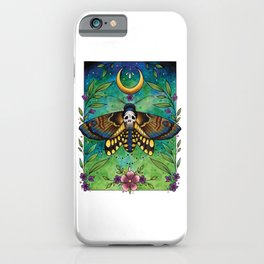 Neo Traditional Deaths-head moth iPhone Case