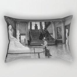 Frank Waller - Entrance Hall of the Metropolitan Museum of Art when in Fourteenth Street Rectangular Pillow