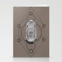 sacred geometry Stationery Cards featuring Sacred Geometry  by Kit King & Oda