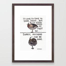 Bird no. 192: Too Late Framed Art Print