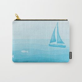 sailboat art illustration Carry-All Pouch
