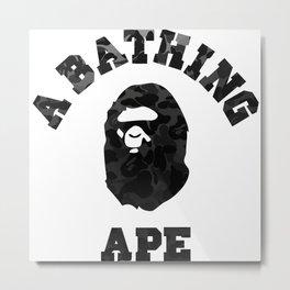 A Bathing Ape Black Metal Print