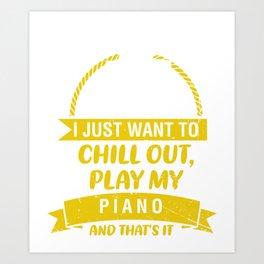 Piano Pianist Classical Music Music Teacher Art Print
