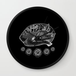 Litte White Fawn Wall Clock