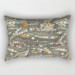 iguana skin black pop Rectangular Pillow