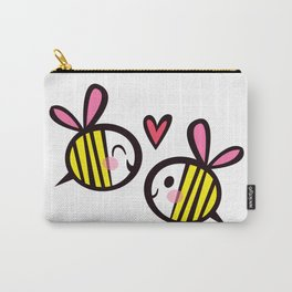 Kawaii Bees in Love Carry-All Pouch