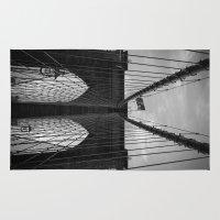 brooklyn bridge Area & Throw Rugs featuring Brooklyn Bridge by Nicklas Gustafsson