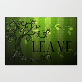 LEAVE - Summer Green Canvas Print