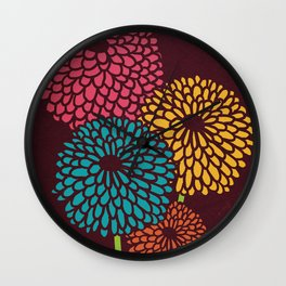 Still Life Chrysanthemum Wall Clock