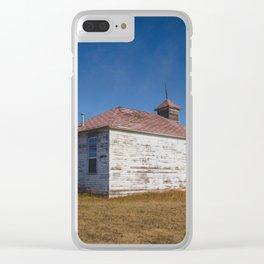 School House, Huff, North Dakota 1 Clear iPhone Case