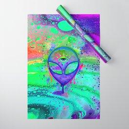 Alien Melt - purple Wrapping Paper