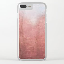 Purple Grass I Clear iPhone Case