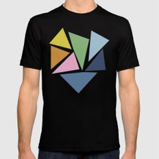 Abstraction #5 MEDIUM Mens Fitted Tee Black