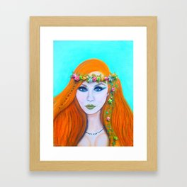 Redhead Poison Ivy Goddess Framed Art Print