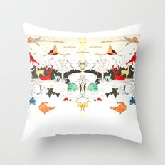 Animal illustration Throw Pillow