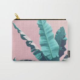 Bananas Leaves on Pink Carry-All Pouch