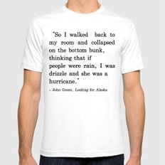 She Was a Hurricane White Mens Fitted Tee SMALL