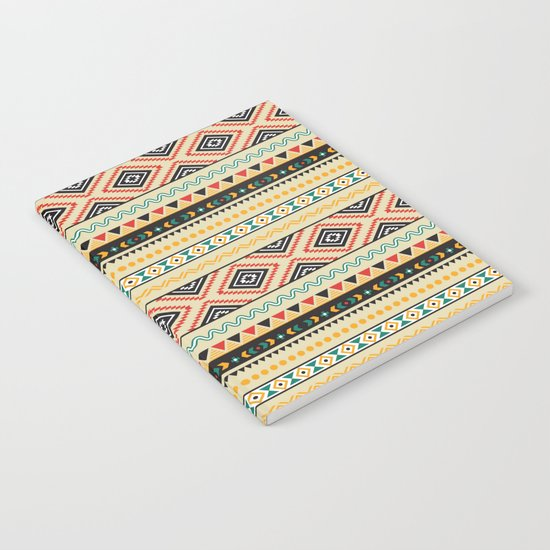 Tribal #3 * Ethno Ethnic Aztec Navajo Pattern Boho Chic Notebook