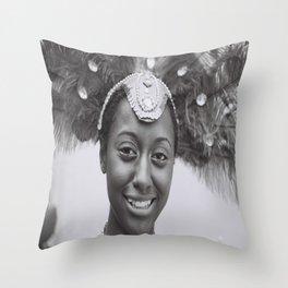 Black and White Photograph Toronto Canada Caribana Street Festival Throw Pillow