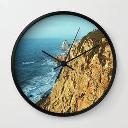 Cabo da Roca, Portugal Analog 6x6 Kodak Ektar 100 (RR 161) Wall Clock