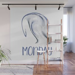 The Monday Blues Wall Mural