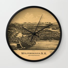 Aerial View of Wolfeborough, New Hampshire (1889) Wall Clock