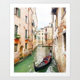 Venice gondola Art Print