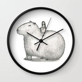 I LOVE CAPYBARA Wall Clock