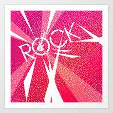 Rock [Pink] Art Print