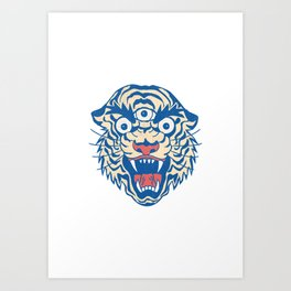 Third Eye Tiger Flash Art Print