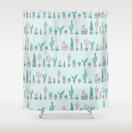 Boho cactus Shower Curtain