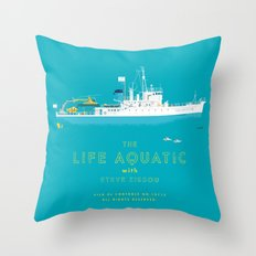 The Life Aquatic with Steve Zissou Throw Pillow