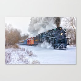 North Pole Express Train (Steam engine Pere Marquette 1225) Canvas Print