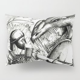 Perseus fighting the sea monster Pillow Sham