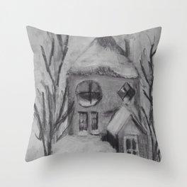 Canadian Snow Throw Pillow