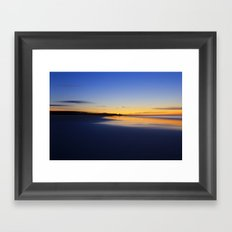 While I walked down to the beach Framed Art Print