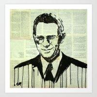 steve mcqueen Art Prints featuring Steve. by Marat Cherny