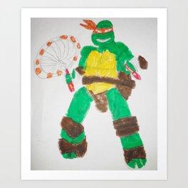 Ninja Turtle Mickey Art Print