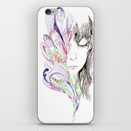 Sketch Two - Peacock iPhone Skin