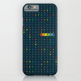 Human LGBTQ ally iPhone Case