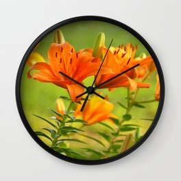 Orange Light Wall Clock