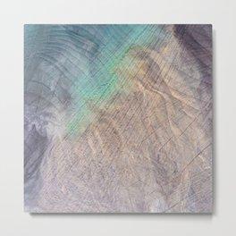 Oceanic Wood Metal Print