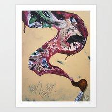 Brushstroke Art Print