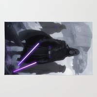 jedi Area & Throw Rugs featuring Jedi Hunters by Yvan Quinet
