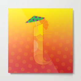 T for Tequila Sunrise Metal Print