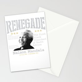 Renegade | Nelson Mandela - The first black President of South America Stationery Cards