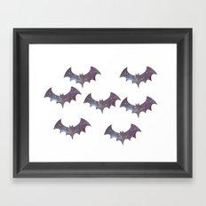 Space bats Framed Art Print