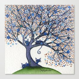 Oregon Whimsical Cats in Tree Canvas Print
